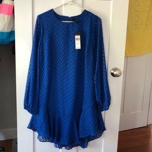 Stunning blue sheer long sleeve dress